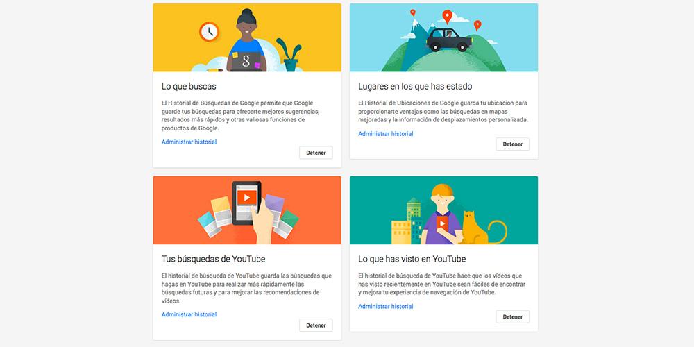 ¿Qué información guarda Google sobre mí, cuales son estos datos, cómo los utiliza y cómo puedo evitar que los guarde?