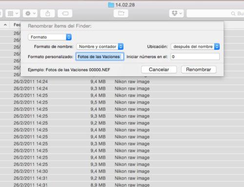¿Cómo cambiar el nombre de varios archivos a la vez en OS X y macOS?